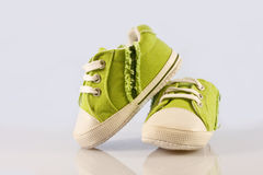 Green baby shoes Royalty Free Stock Photography