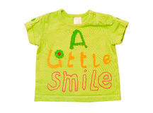 Green baby top clothing. Royalty Free Stock Photo