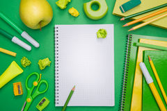 Green back to school Royalty Free Stock Image
