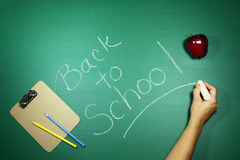 Green Back to School Themed Background Image Royalty Free Stock Photo