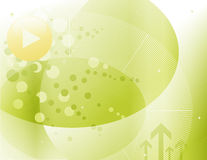 Green backdrop. Hi-tech background abstract illustration, for technology purposes Stock Images