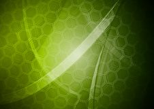Green backdrop with hexagon texture Stock Photo