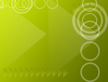 Green background. Green dynamic background with arrows, squares and circles Royalty Free Stock Photos