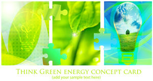 Green background. Green collage from tree image; energy conceptual Stock Photos