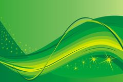 Green background. Green illustration with stars perfect as a background Royalty Free Stock Photography