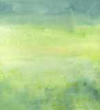 Green Background. A greenish-blue graduated background made with watercolors Royalty Free Stock Photography