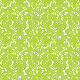 Green background. Vector seamless green background with leaves Stock Photo