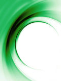 Green background. Green abstract wave background on white Stock Image