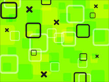 Green background. Abstract green background with squares vector illustration