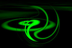 Green background. Abstract green object with black color Royalty Free Stock Photography