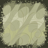 Green background. Background with green lines and abstract  swirl Royalty Free Stock Photography