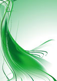 Green background. Background made of green waves Royalty Free Stock Images