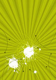 Green background. A green background with white splatters and black curvy lines Royalty Free Stock Image