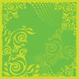 Green background. With florsl pattern royalty free illustration