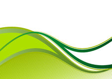 Green background. A green and white illustrated background with wavy lines. Room for text available Stock Photo