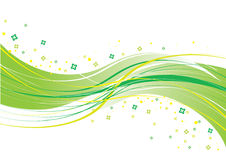 Green background. Green wave background, vector illustration Stock Image