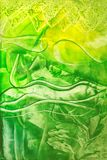 Green background. Abstract green artistic background with wax encaustic effect Royalty Free Stock Photography