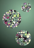 Green background abstract bubbles Stock Photos