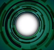 Green background. Abstract green background - 3D circles, vector illustration Royalty Free Stock Photos