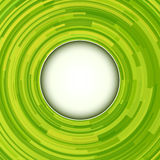 Green background. Abstract green background - 3D swirl, vector illustration Stock Images