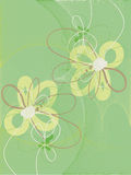 Green background with abstract flowers. Royalty Free Stock Photos