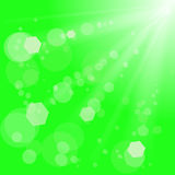 Green Background. Abstract Green Background with Sun Rays. Sun Burst Stock Image