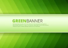 Green  background with banner place Stock Photo