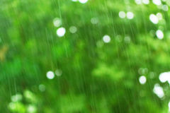 Green background with bokeh effect Stock Images