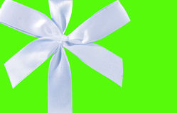 Green background with a bow Stock Image