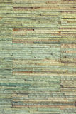 Green background of brick stone wall texture pattern Stock Images