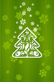 Green background for Christmas Royalty Free Stock Photo