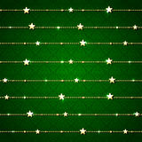 Green background with Christmas decoration Stock Photo