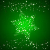 Green background with Christmas star. Green starry background with Christmas star, illustration Royalty Free Stock Photography