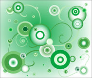 Green background (circle). Illustration: retro green background (circles Royalty Free Stock Images