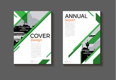 Green background Circle modern cover design modern book cover ab. Stract Brochure cover  template,annual report, magazine and flyer layout Vector a4 Royalty Free Stock Photos