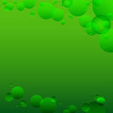 Green Background with circles. A party. Weightlessness. Royalty Free Stock Image