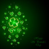 Green background with clover Stock Image