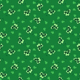 Green background clover seamless pattrn Stock Image