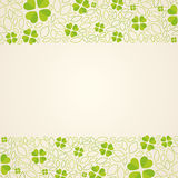 Green background with cloverleafs royalty free illustration