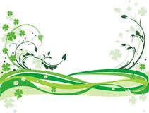 Green background with clovers Stock Image