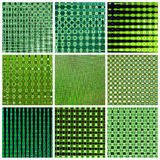 Green background - collage Stock Photography