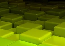 Green Background with cubes. 3D rendering vector illustration