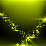 Green background with cubes, particles Royalty Free Stock Photography