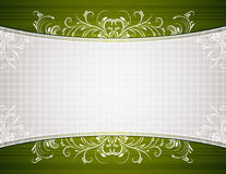 Green background with decorative ornaments Stock Photography