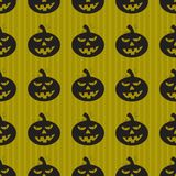 Halloween background with black pumpkins. Green background design with black pumpkin pattern. Halloween theme clean design Stock Photo