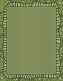 Green background with dots and striped border Royalty Free Stock Images