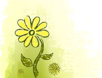 Green background with drawing. Of flowers Royalty Free Stock Photos