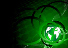 Green background with earth Royalty Free Stock Photography