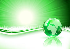 Green background with Earth Stock Photography