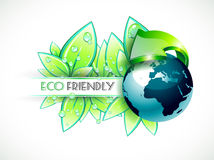 Green background for eco friendly covers Stock Image